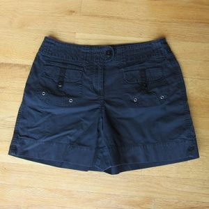 Allison Brittney Black Walking Casual Shorts